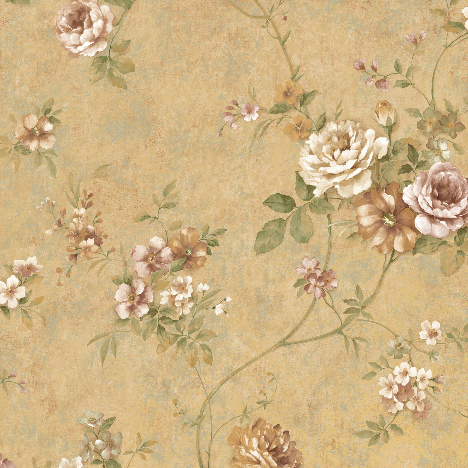 Picture of Arbor Rose Bronze Floral Trail Wallpaper