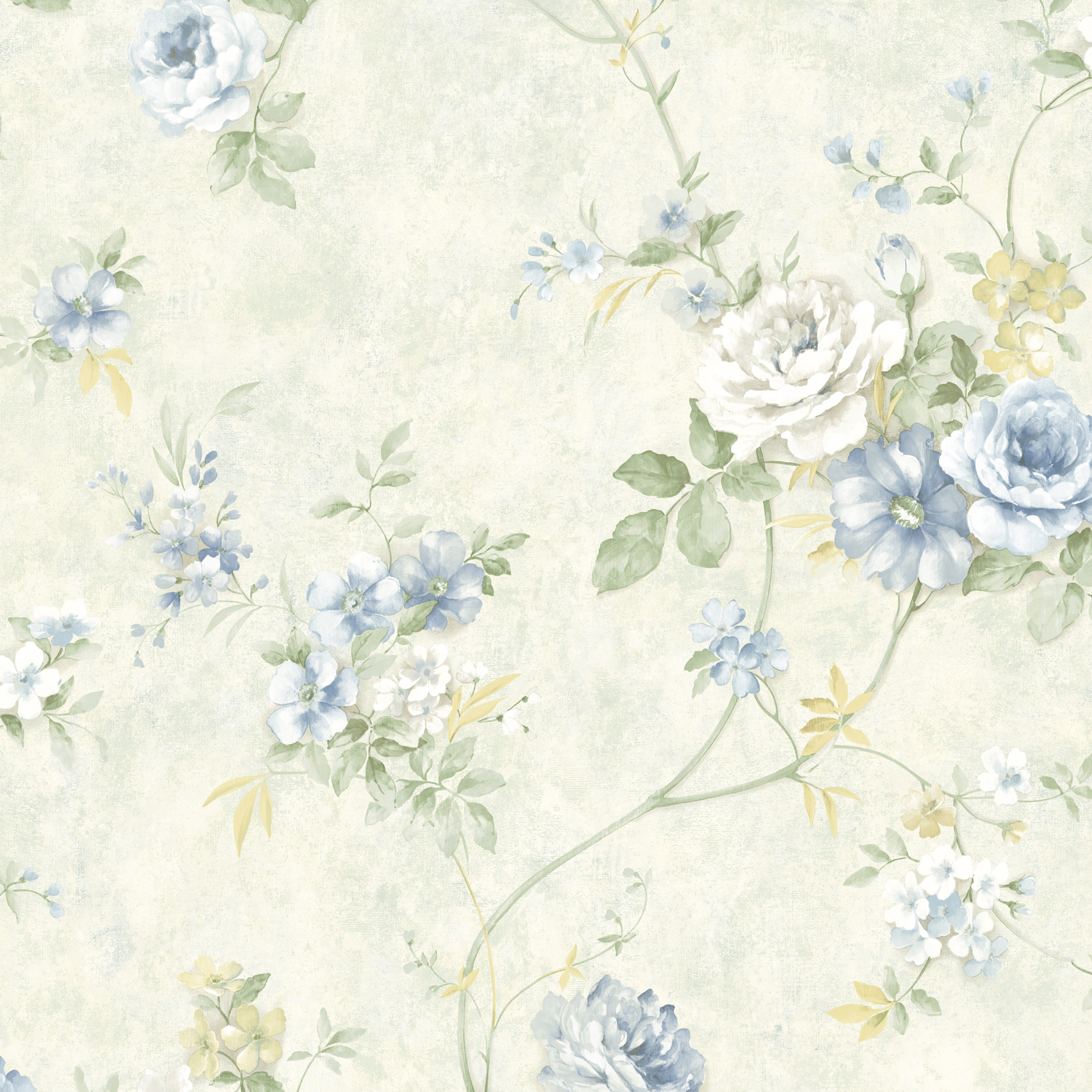Picture of Arbor Rose Blue Floral Trail Wallpaper