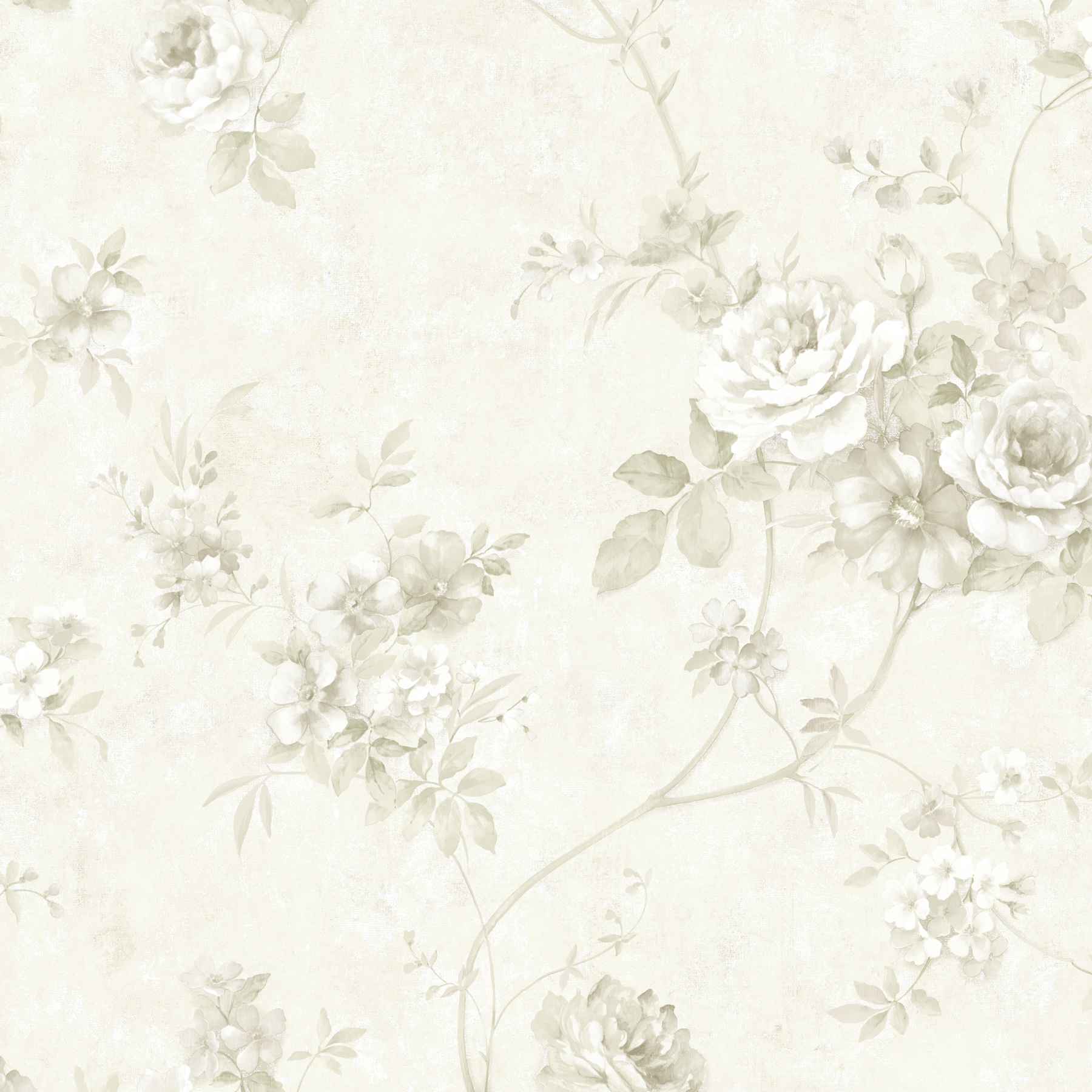 Picture of Arbor Rose Grey Floral Trail Wallpaper