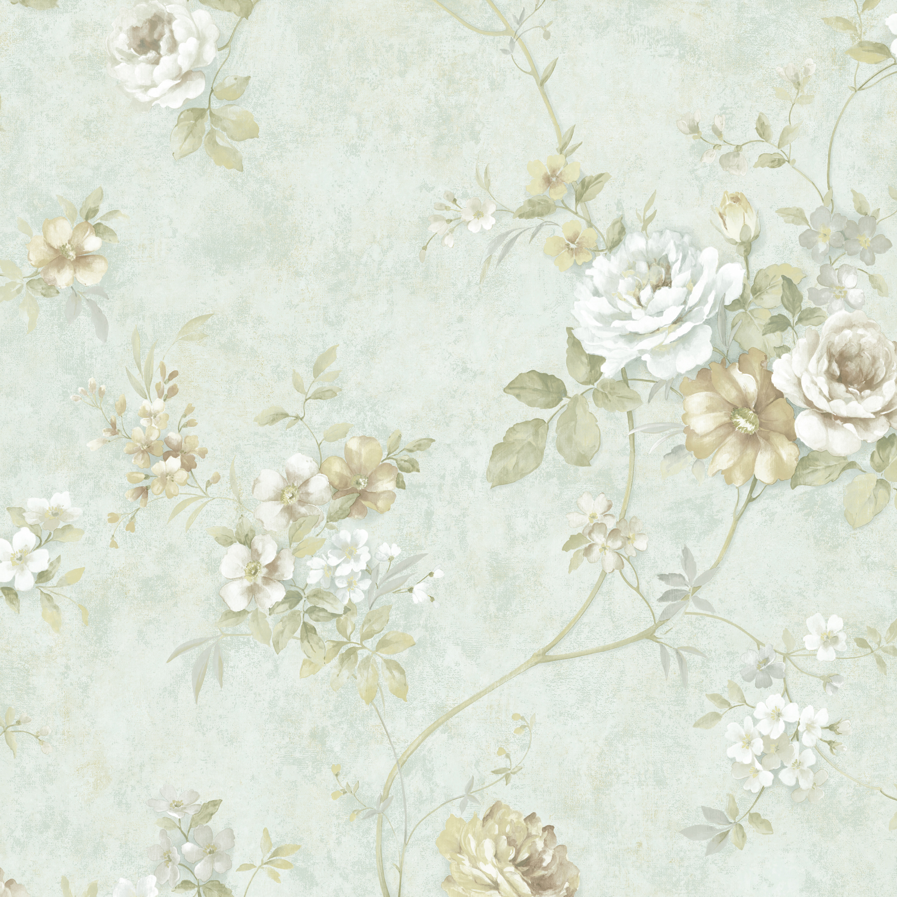 Picture of Arbor Rose Mint Floral Trail Wallpaper