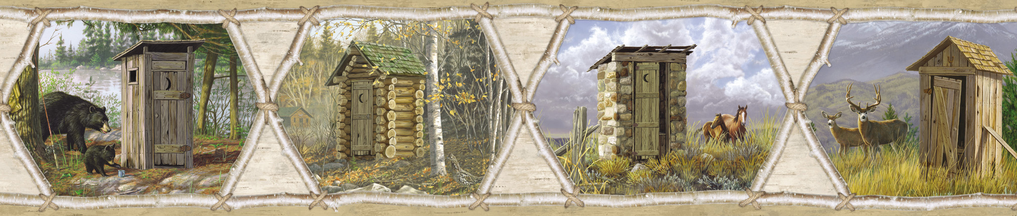 Picture of Augustus Brown Privy Collection Portrait Border