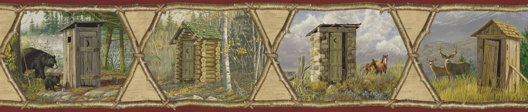 Picture of Augustus Red Privy Collection Portrait Border