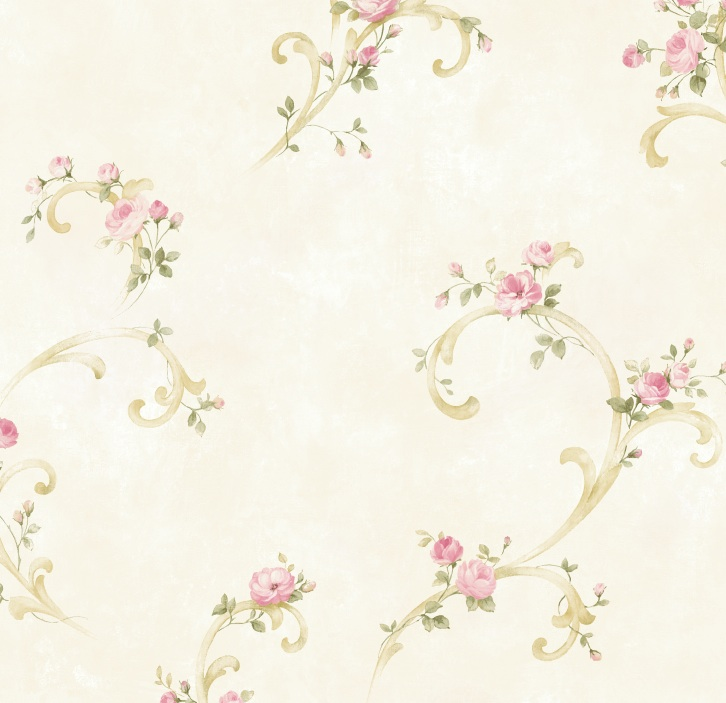 Picture of Betty Pink Tearose Acanthus Trail Wallpaper Wallpaper