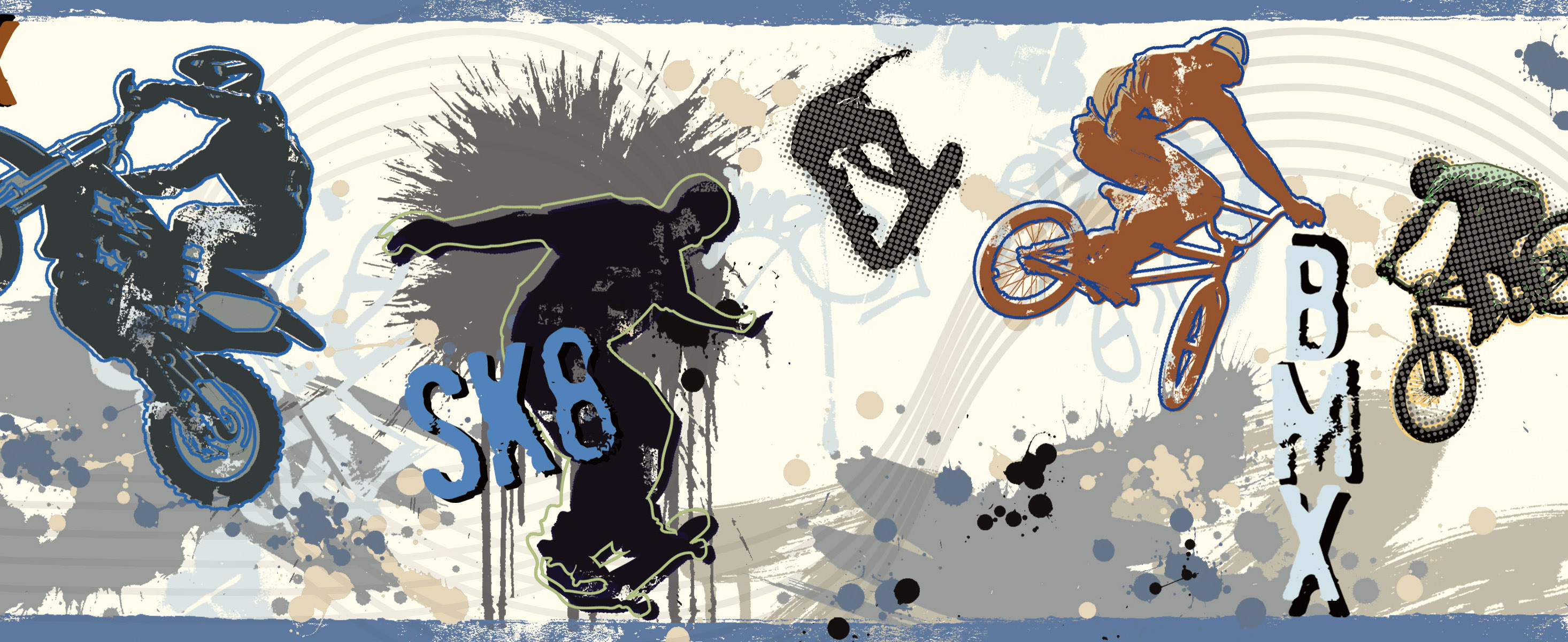 Picture of Bogie Blue Extreme Sports Border Border