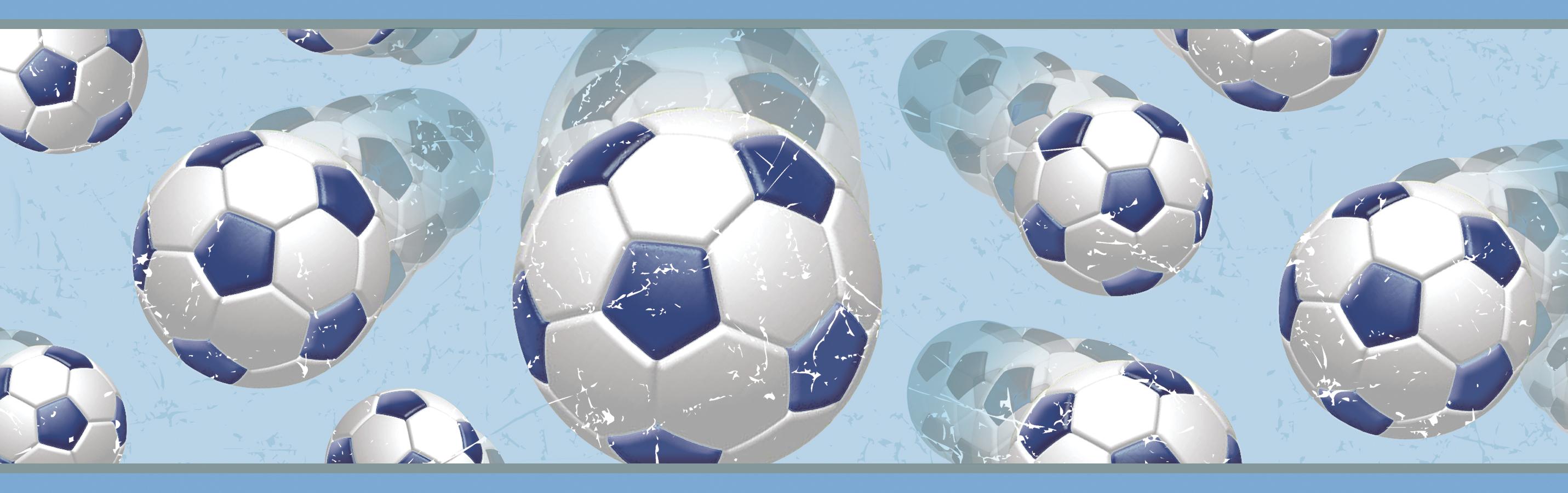 Picture of Beckham Blue Soccer Ball Motion Border