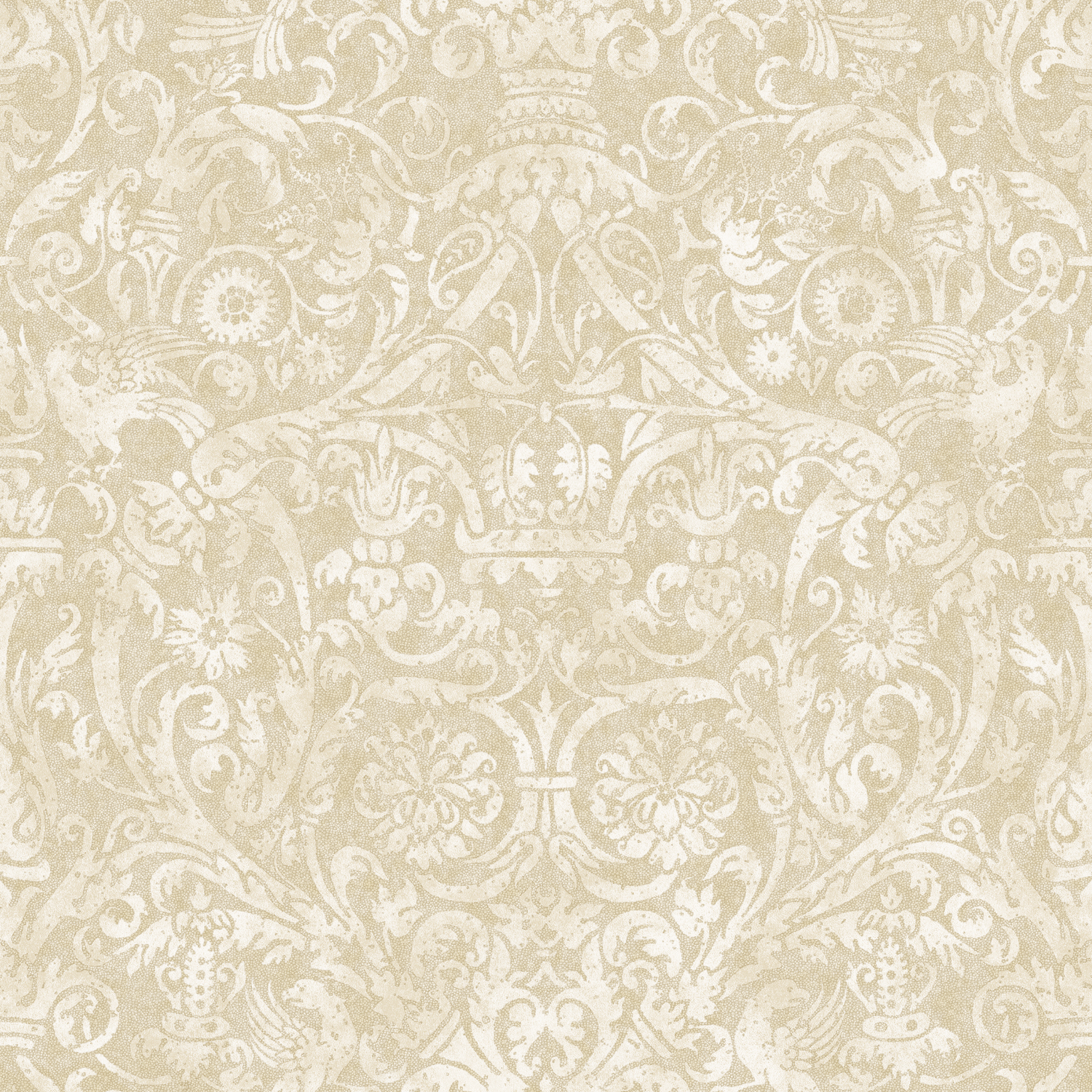Picture of Bali Beige Damask Wallpaper