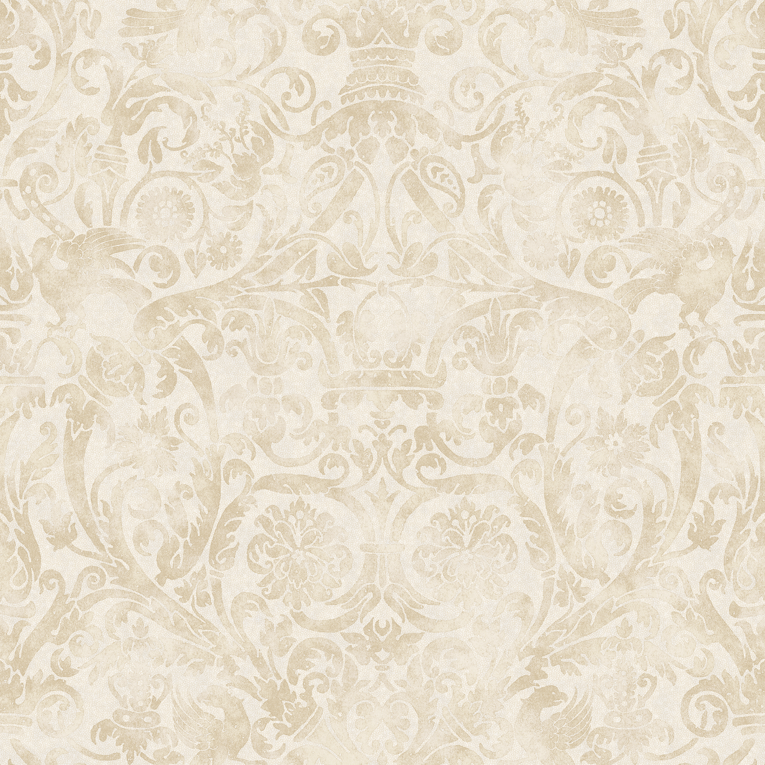 Picture of Bali Brown Damask Wallpaper
