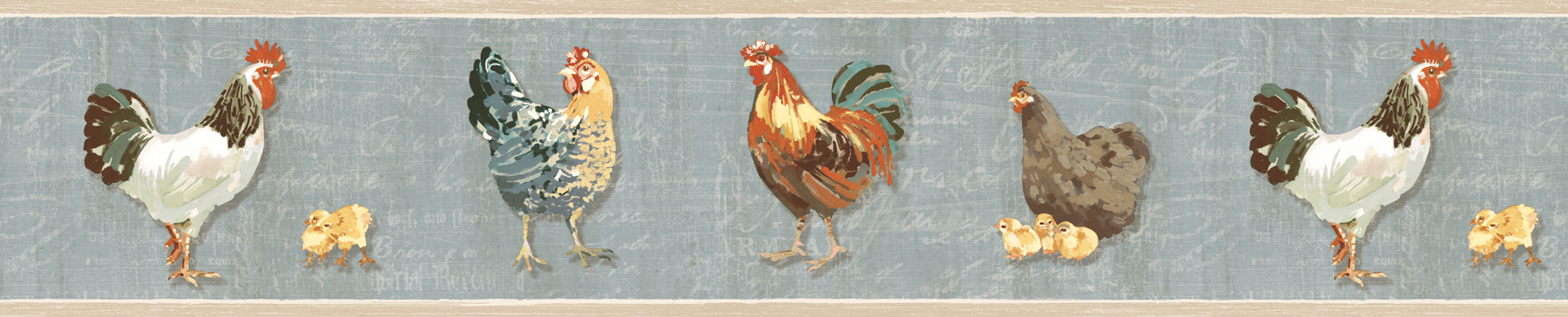 Picture of Bailey Sky Rooster & Script Border