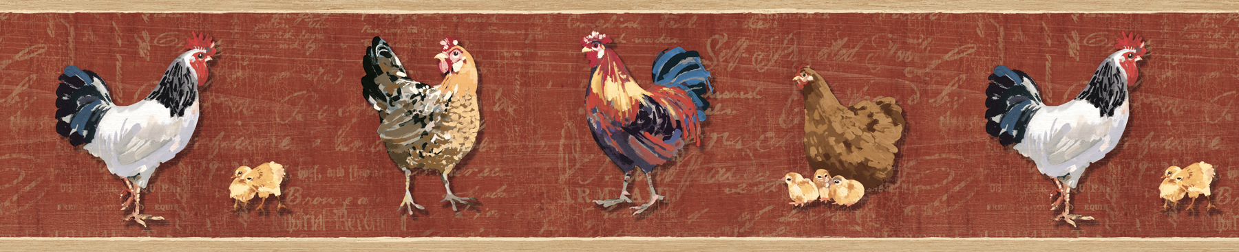 Picture of Bailey Brick Rooster & Script Border