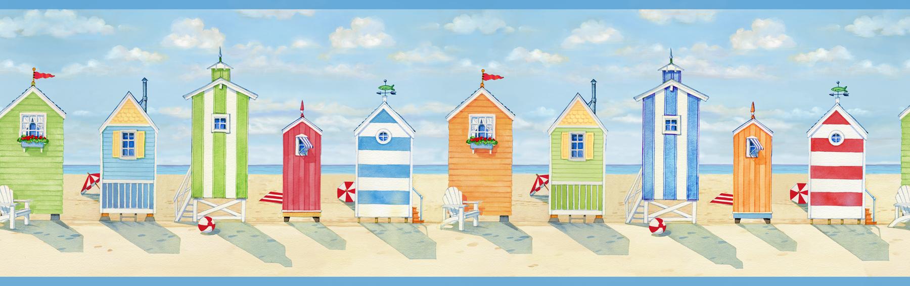 Picture of Brighton Blue Beach Cottage Border