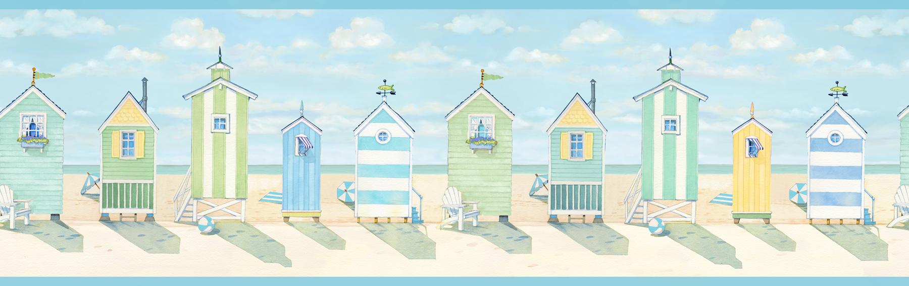 Picture of Brighton Aqua Beach Cottage Border
