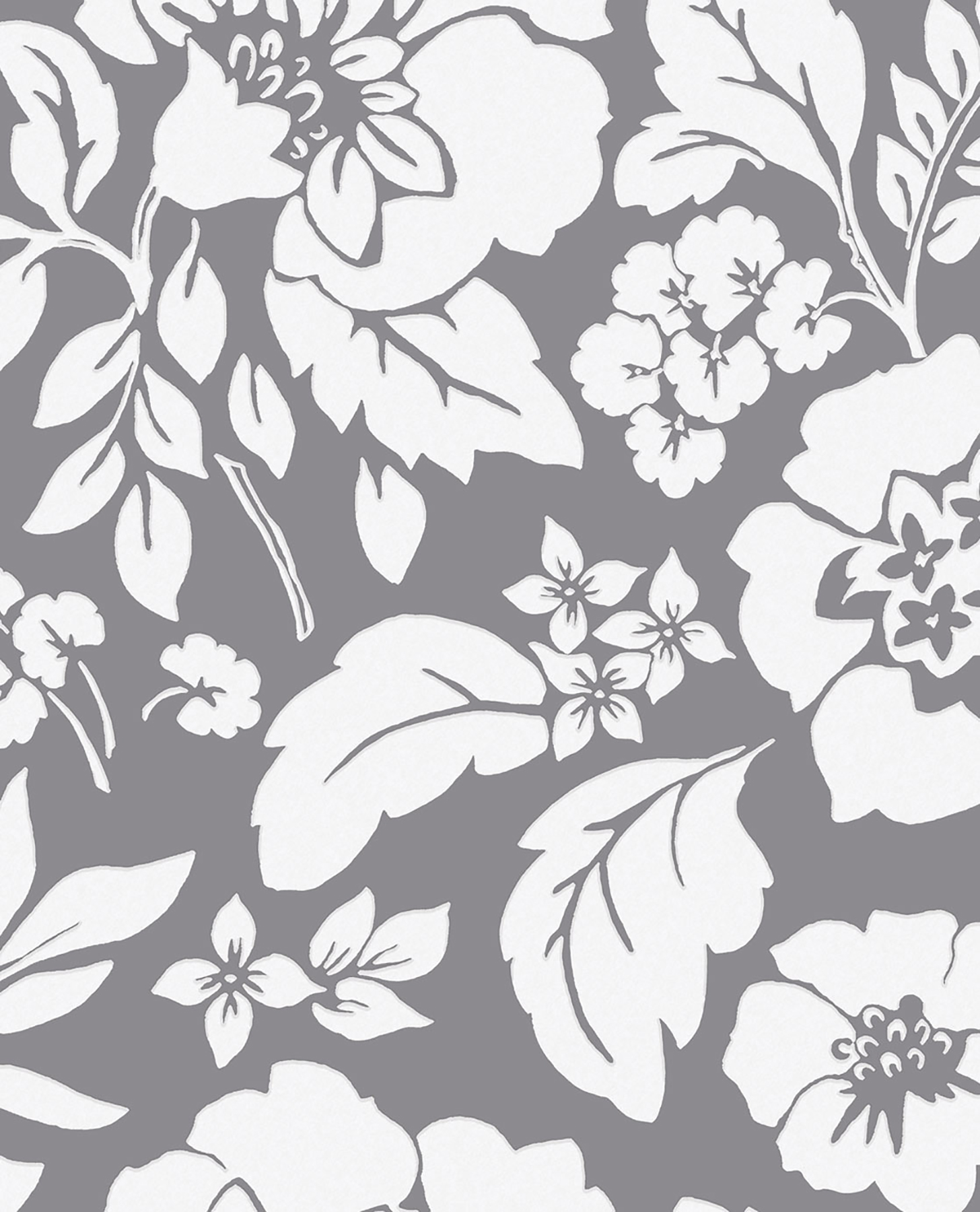 Picture of Avens Grey Floral Wallpaper