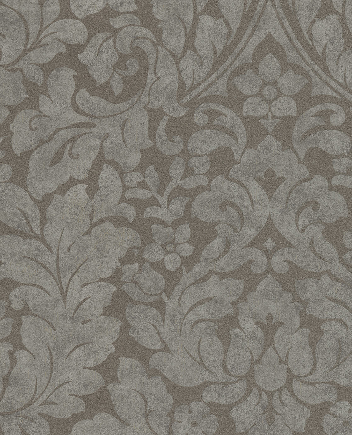 Picture of Arvid Taupe Damask Wallpaper