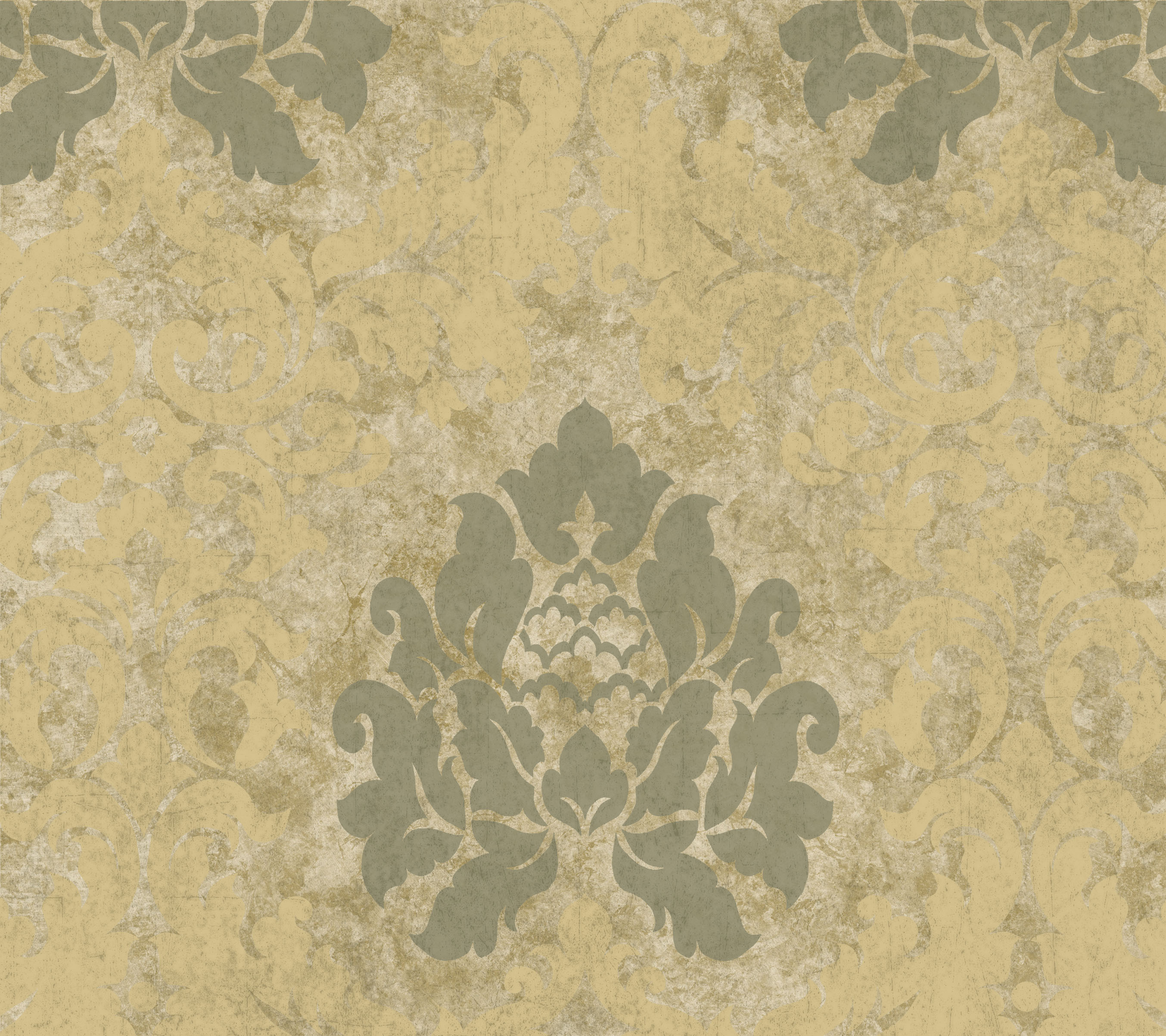 Picture of Beige Haven Damask Wallpaper