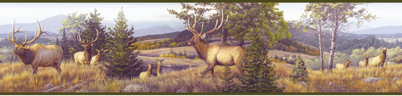 Picture of Breeze Green Elk Mountain Portrait Border