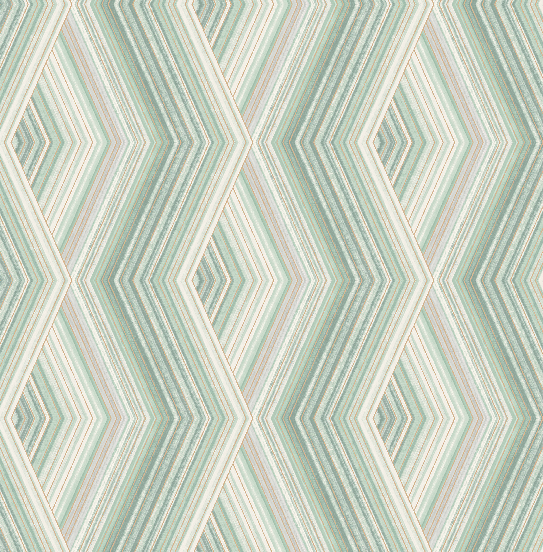 Picture of Aura Green Geometric Wallpaper