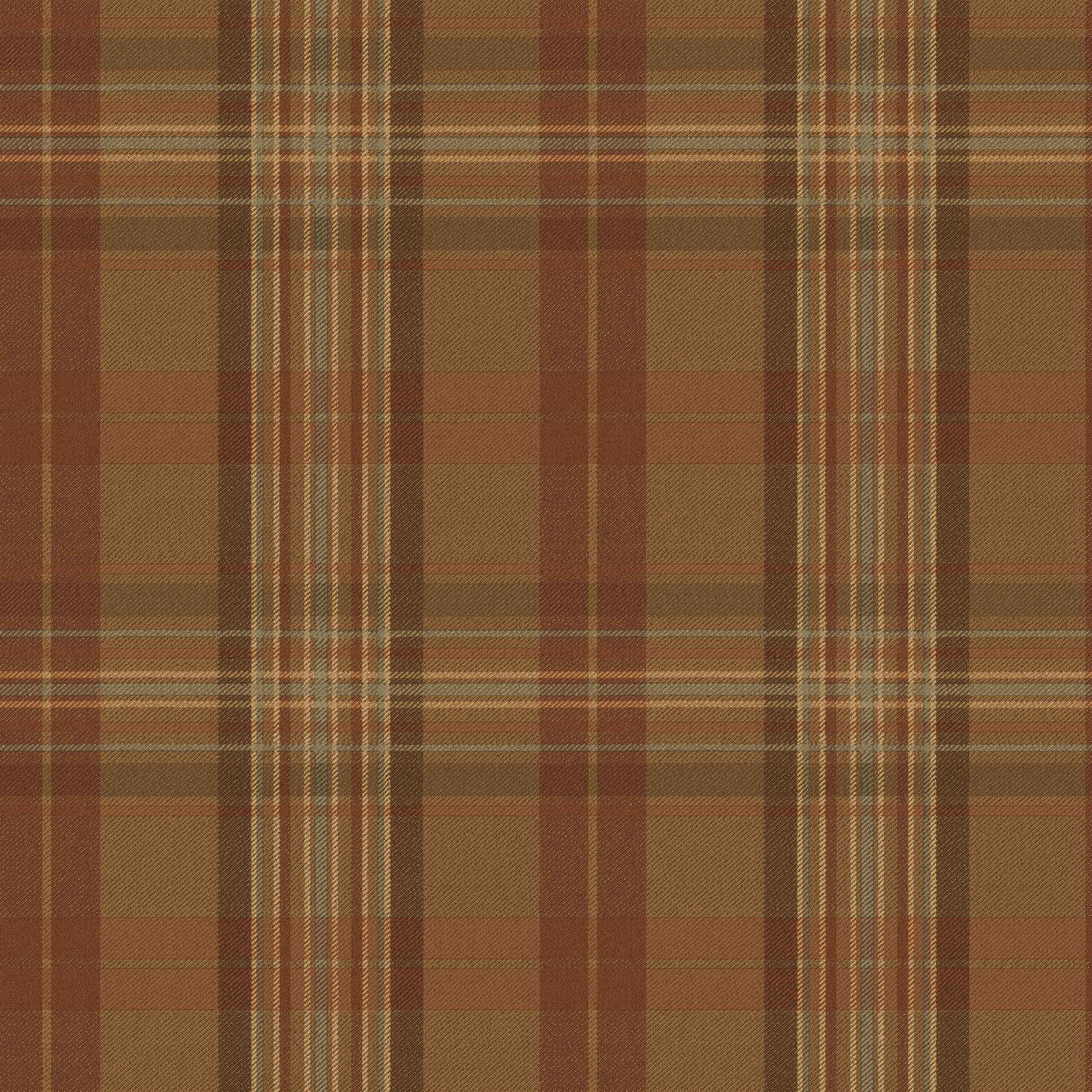 Picture of Austin Brown Plaid Wallpaper