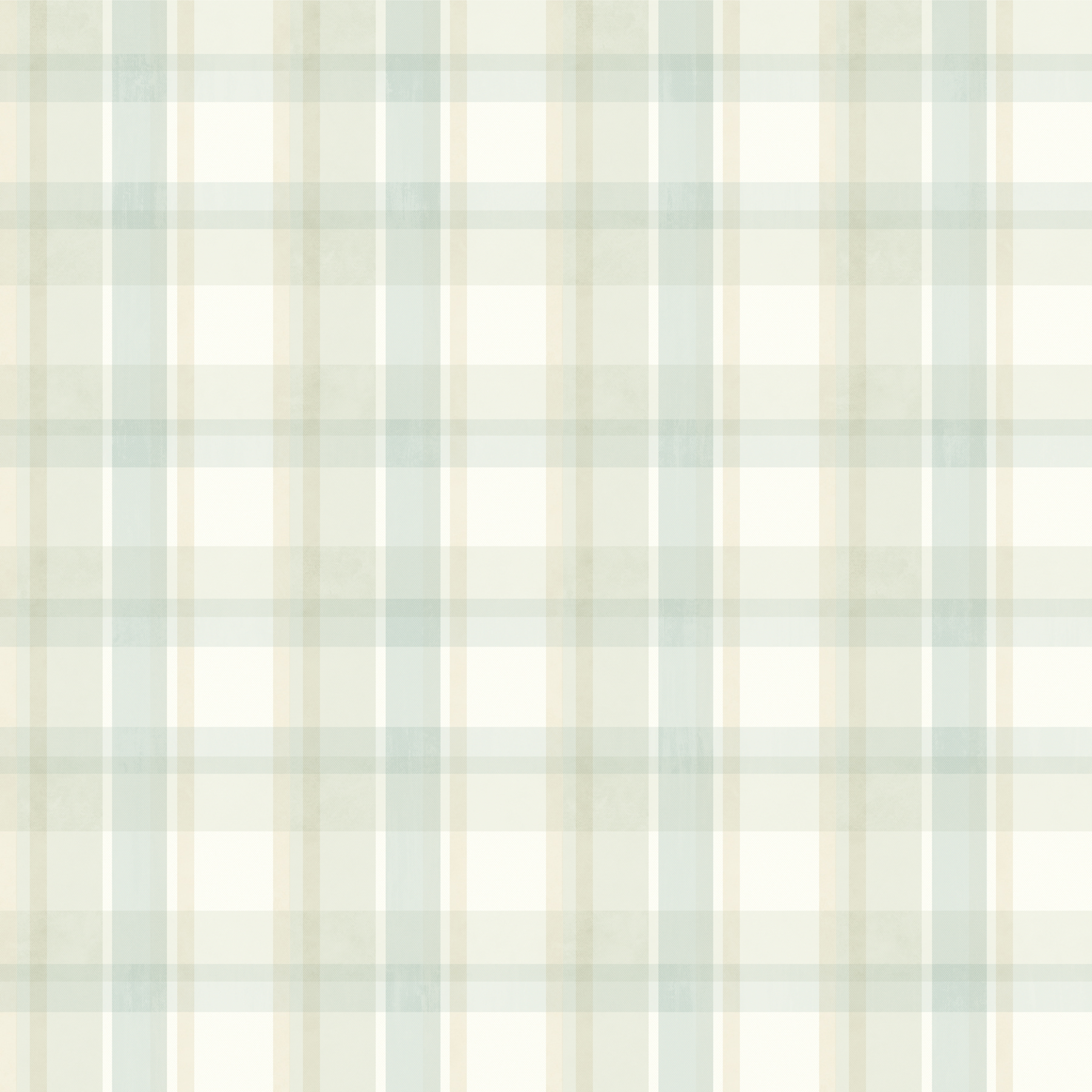 Picture of Bennetts Turquoise Sunday Plaid Wallpaper
