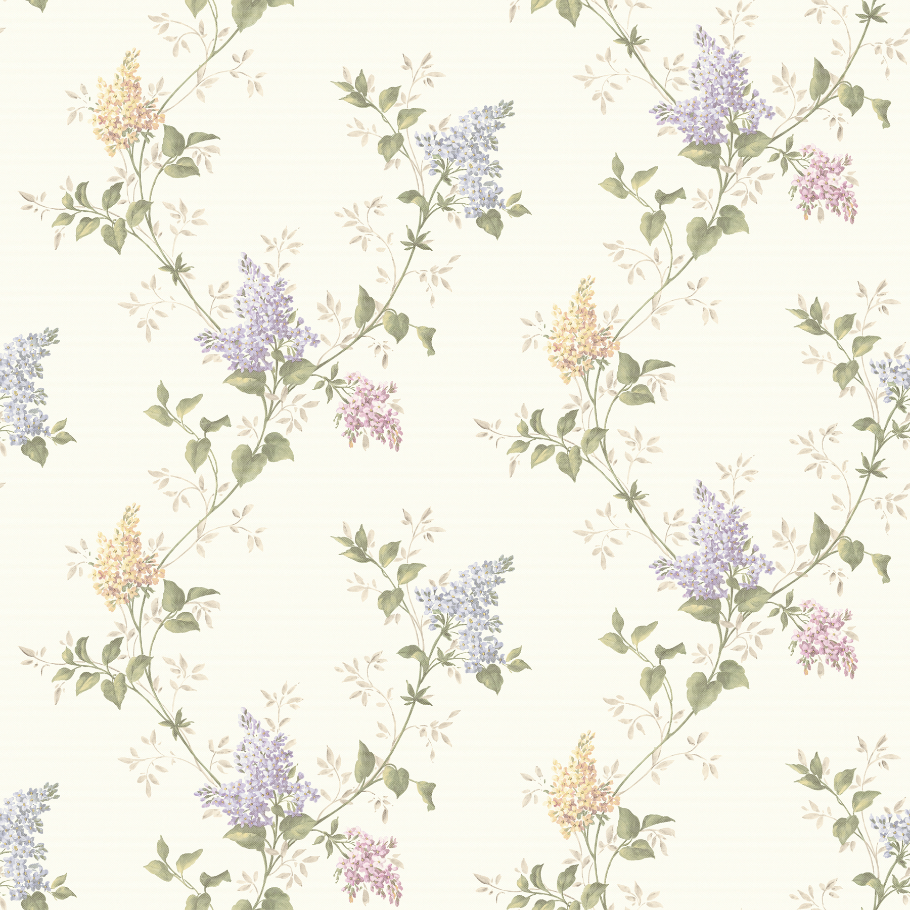 Picture of Ascott Purple Lilac Trail Wallpaper