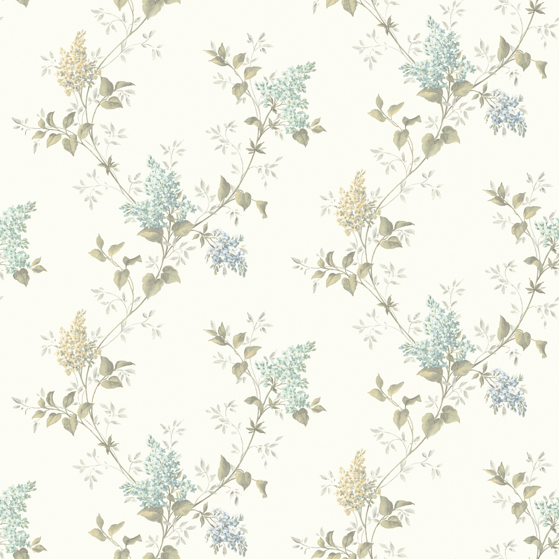 Picture of Ascott Turquoise Lilac Trail Wallpaper