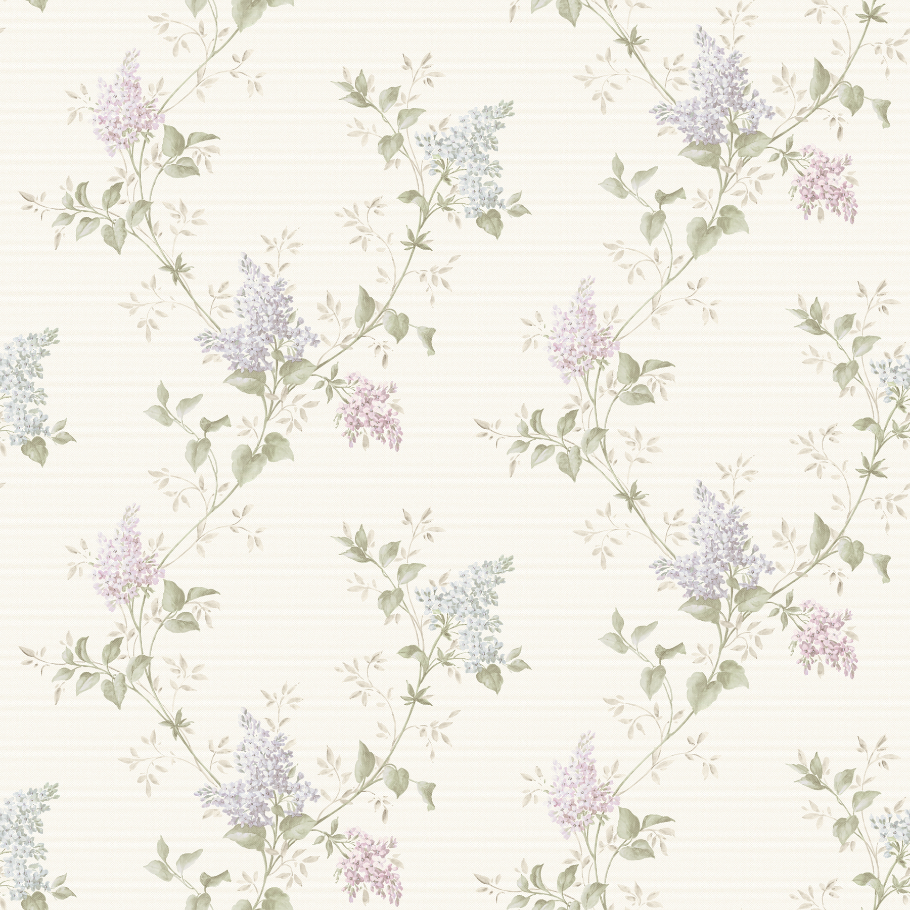Picture of Ascott Blue Lilac Trail Wallpaper