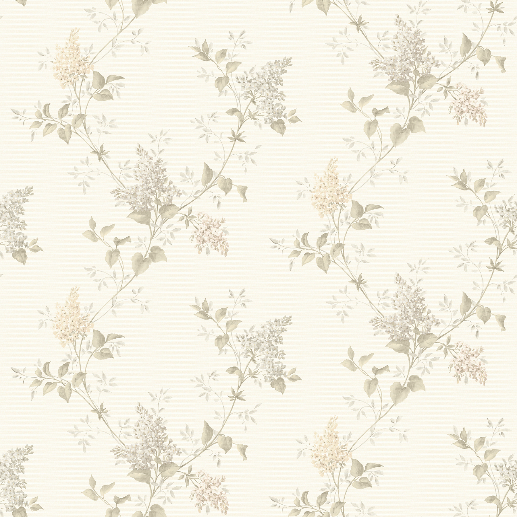 Picture of Ascott Grey Lilac Trail Wallpaper