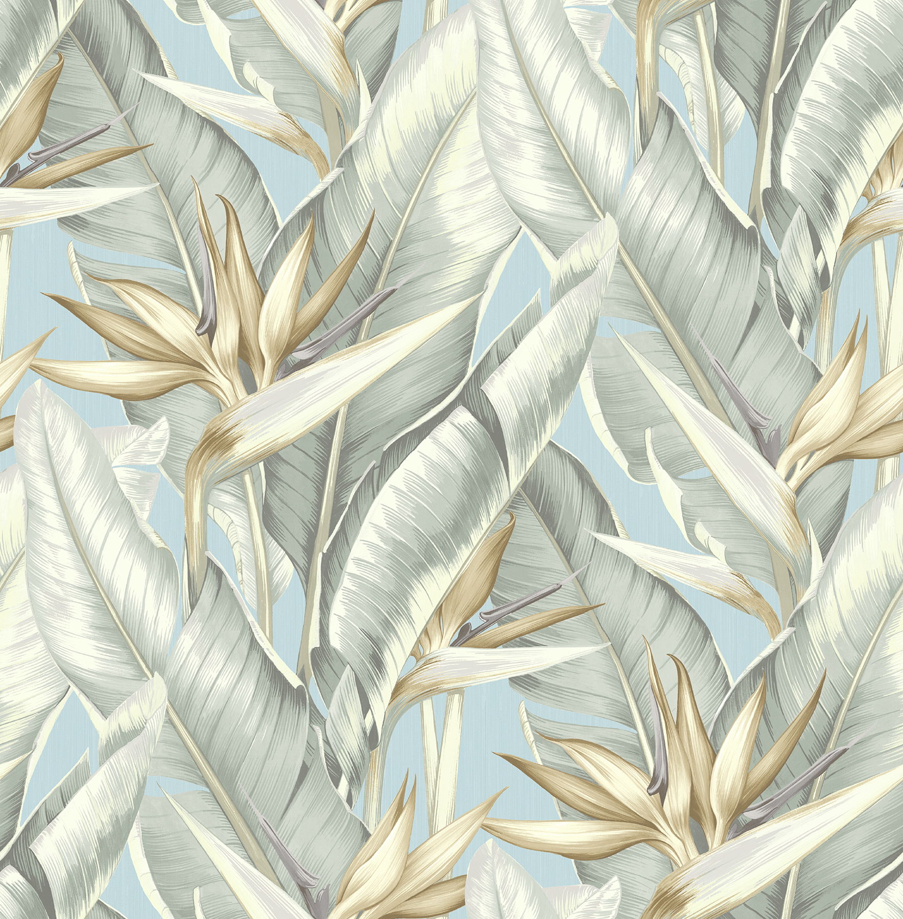 Picture of Arcadia Blueberry Banana Leaf Wallpaper