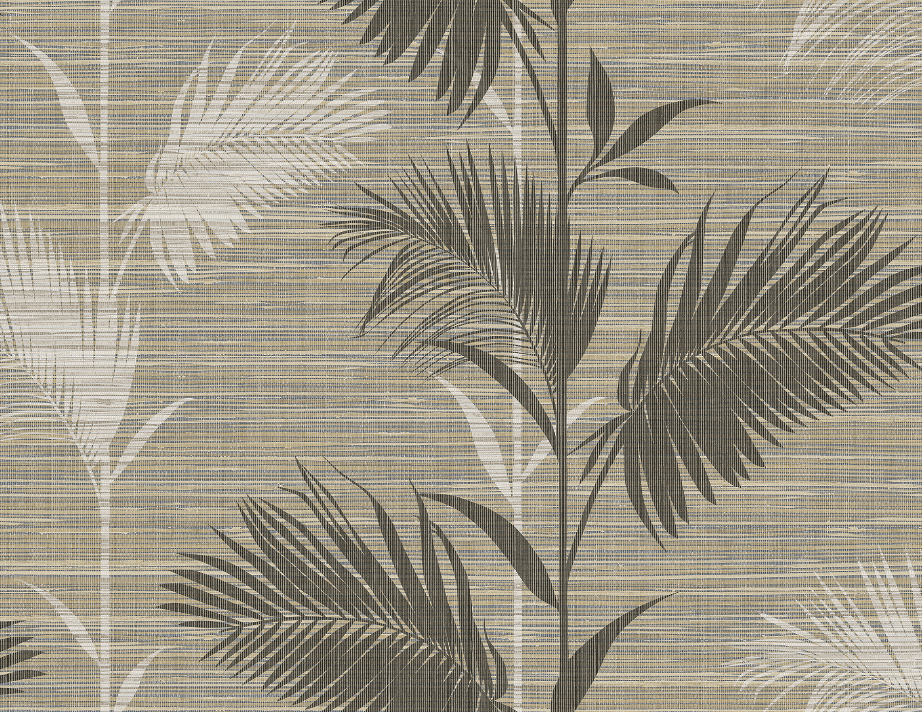Picture of Away On Holiday Brown Palm Wallpaper