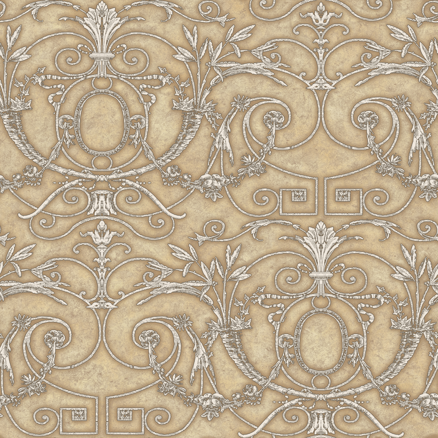 Picture of Beige Andria Ironwork Wallpaper