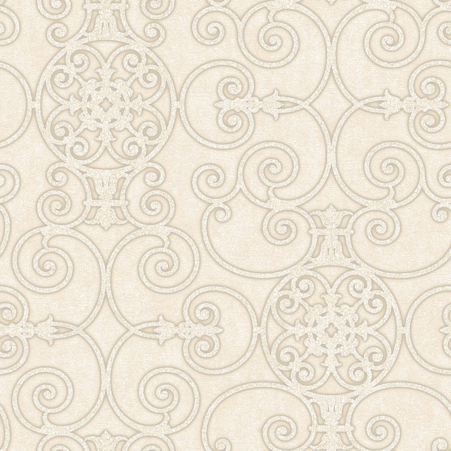 Picture of Belleek Ironwork Cream Wallpaper
