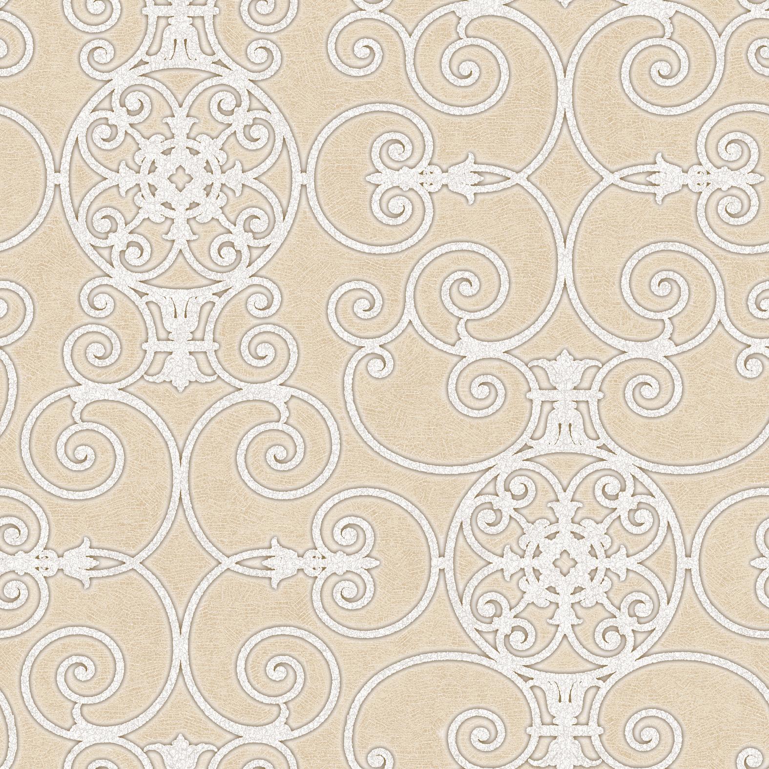 Picture of Belleek Ironwork Beige Wallpaper