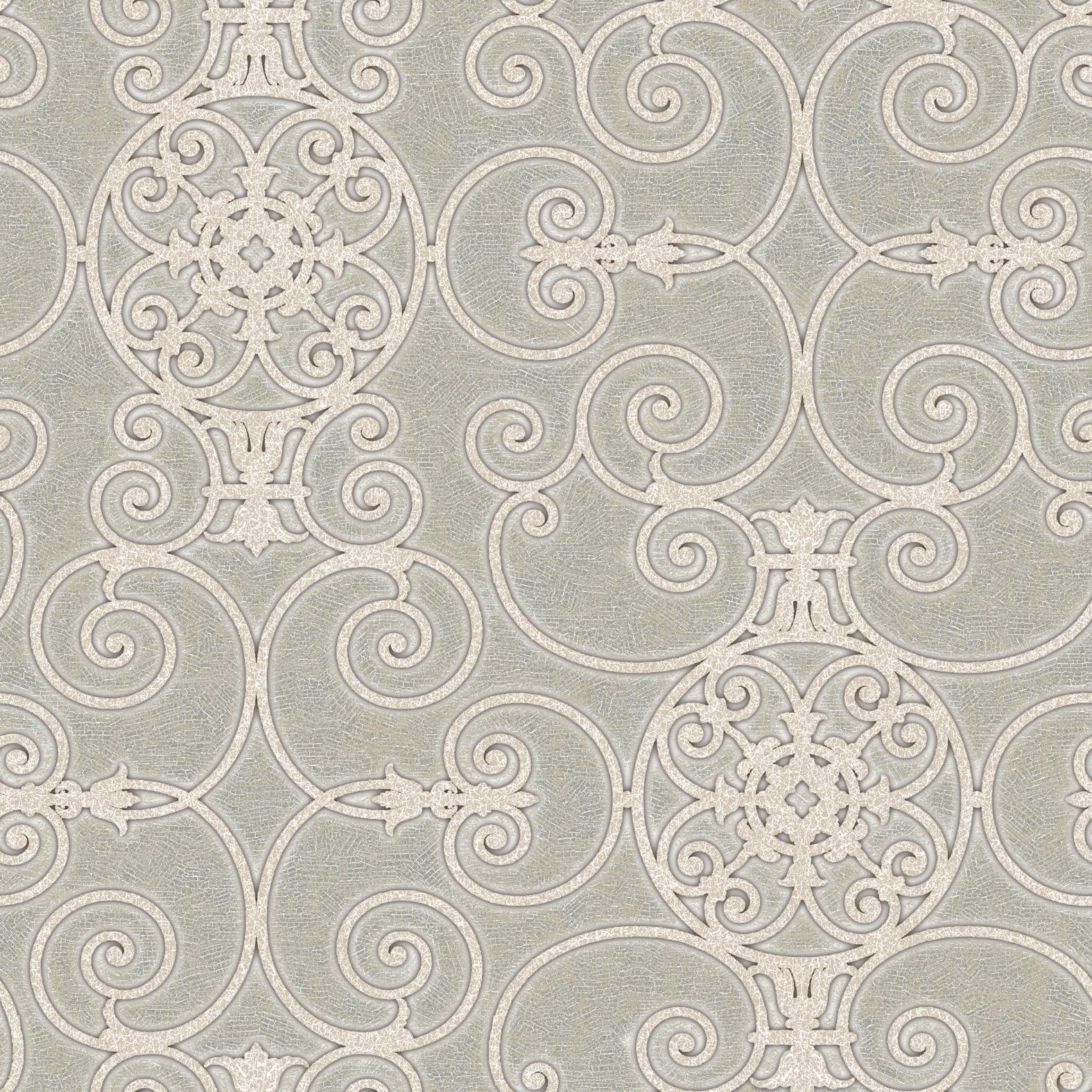 Picture of Belleek Ironwork Grey Wallpaper