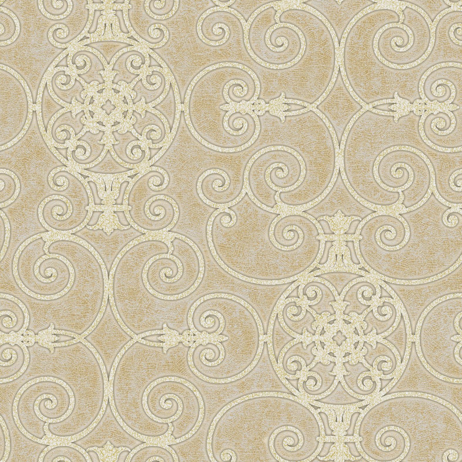 Picture of Belleek Ironwork Gold Wallpaper