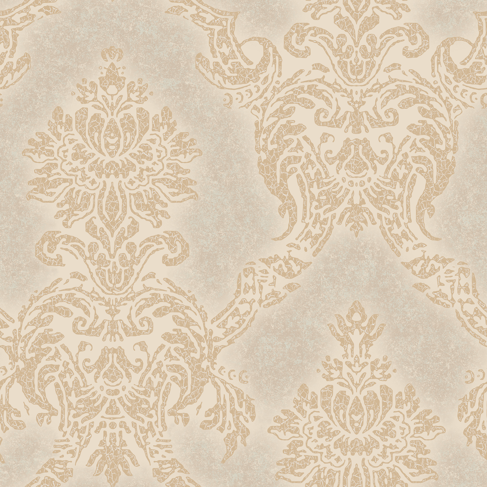 Picture of Augusteen Damask Taupe Wallpaper