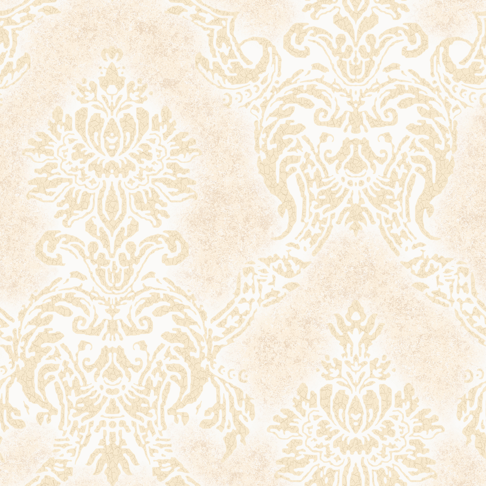 Picture of Augusteen Damask White Wallpaper