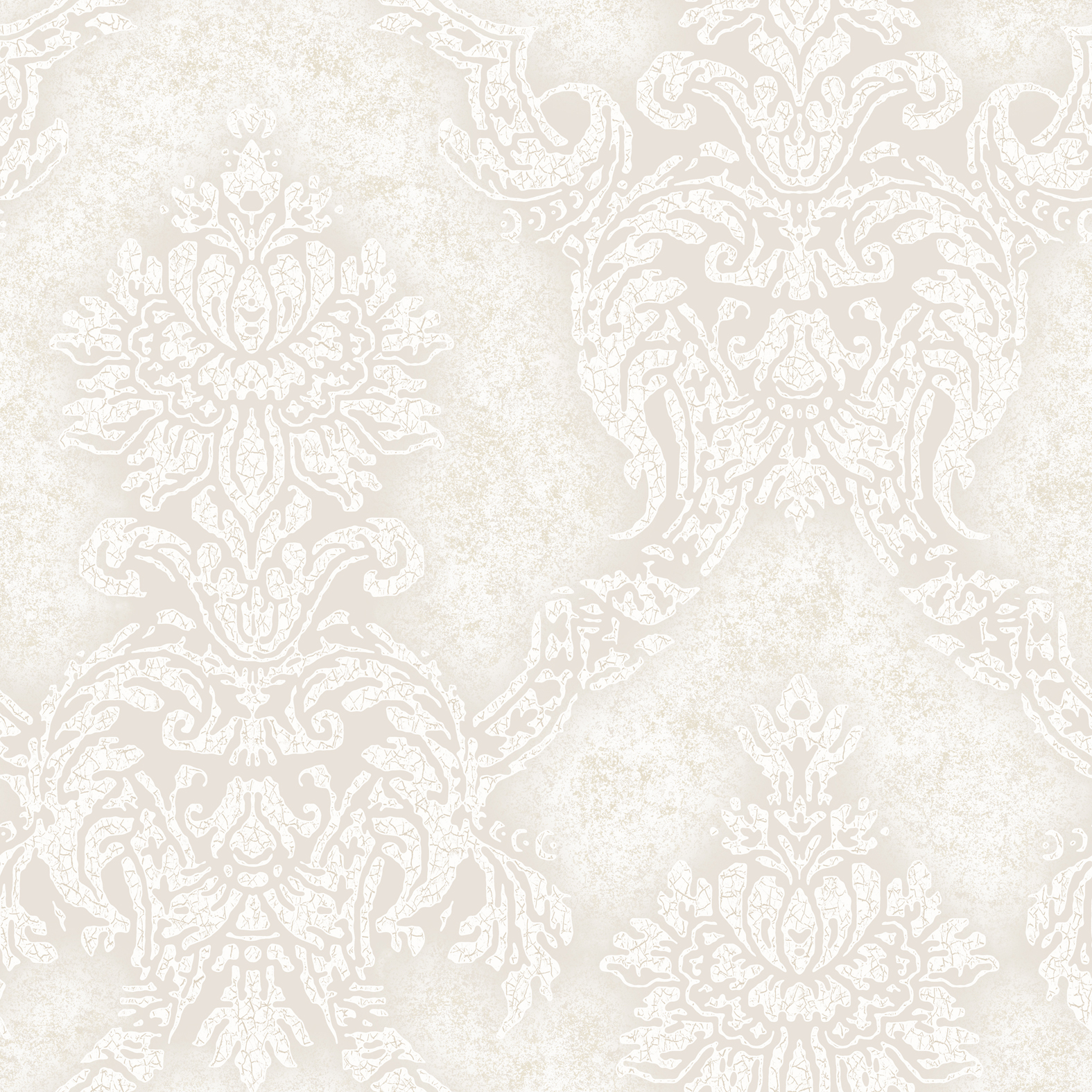 Picture of Augusteen Damask Off-White Wallpaper
