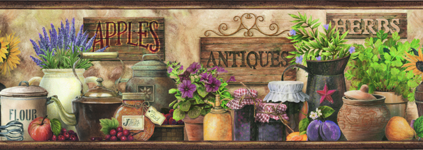 Picture of Brittany Brown Herbs Antiques Portrait Border