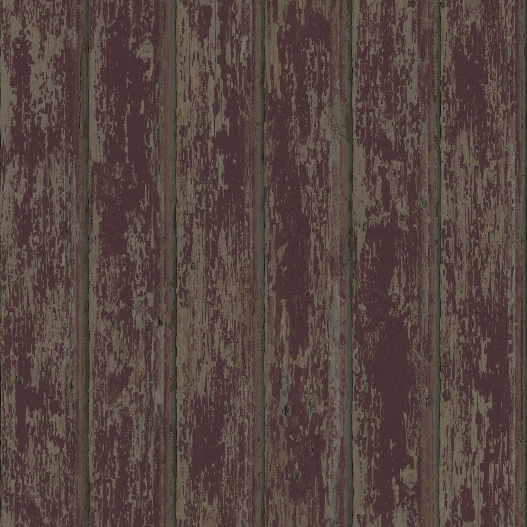 Picture of Brax Red Faux Weathered Clapboards Wallpaper