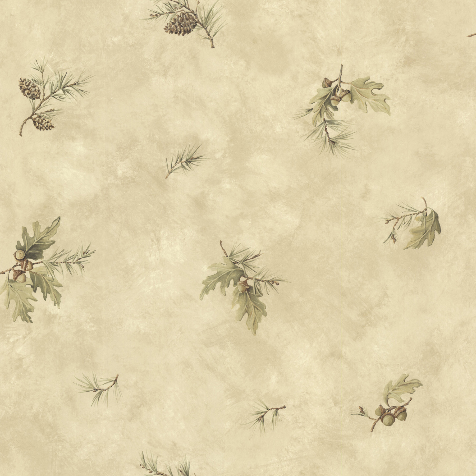 Picture of Brimstone Beige Forest Leaf Toss Wallpaper