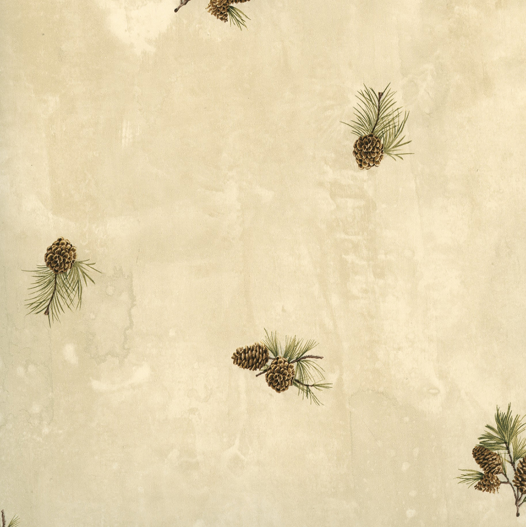 Picture of Brantley Sand Pinecone Toss Wallpaper