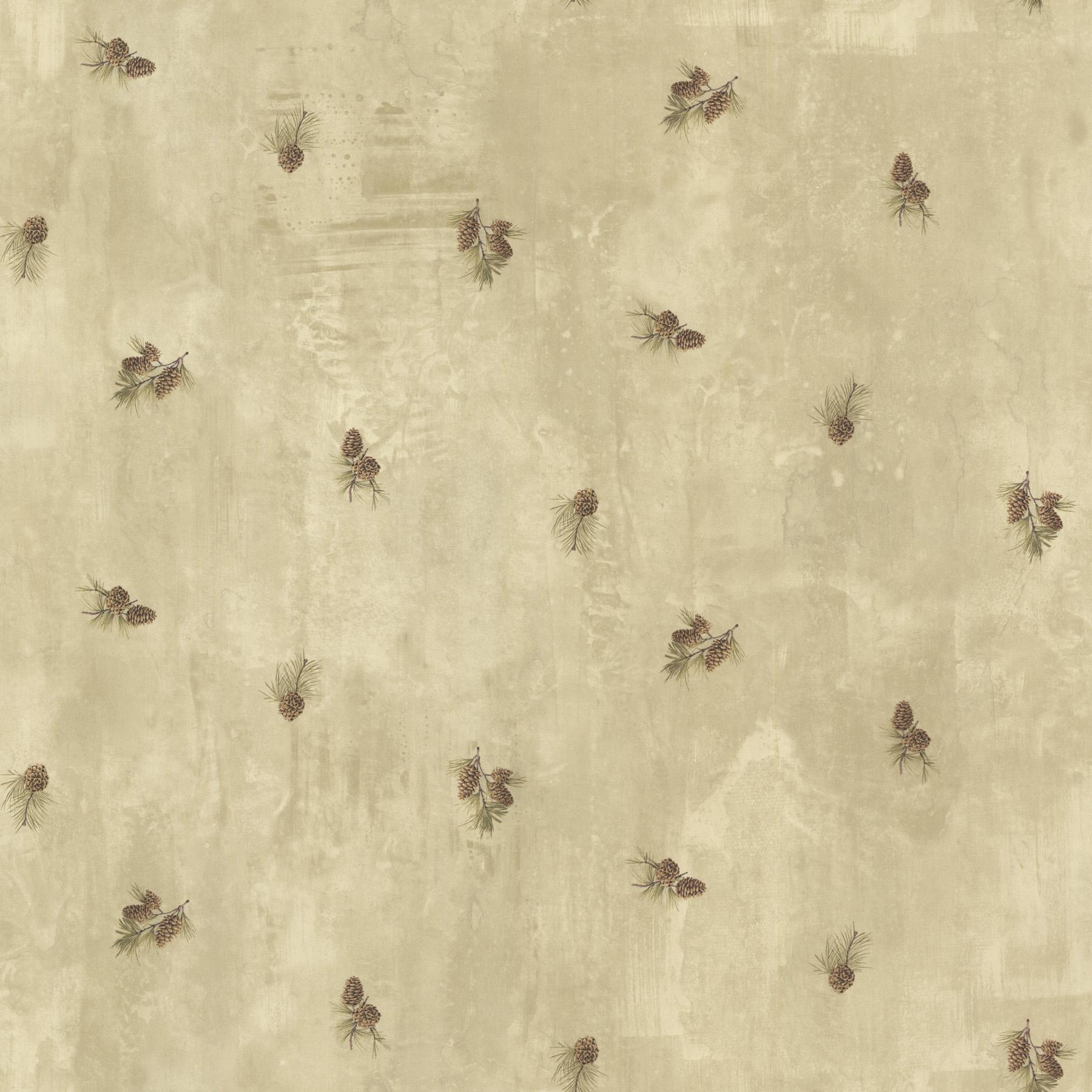 Picture of Brantley Beige Pinecone Toss Wallpaper