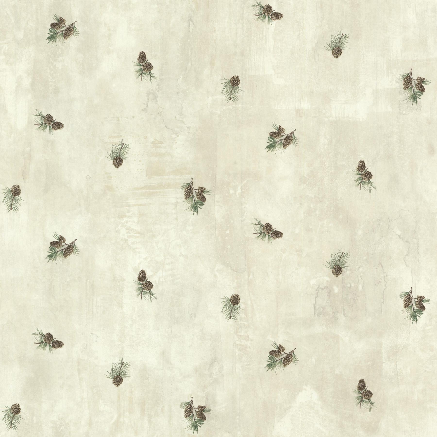 Picture of Brantley Grey Pinecone Toss Wallpaper