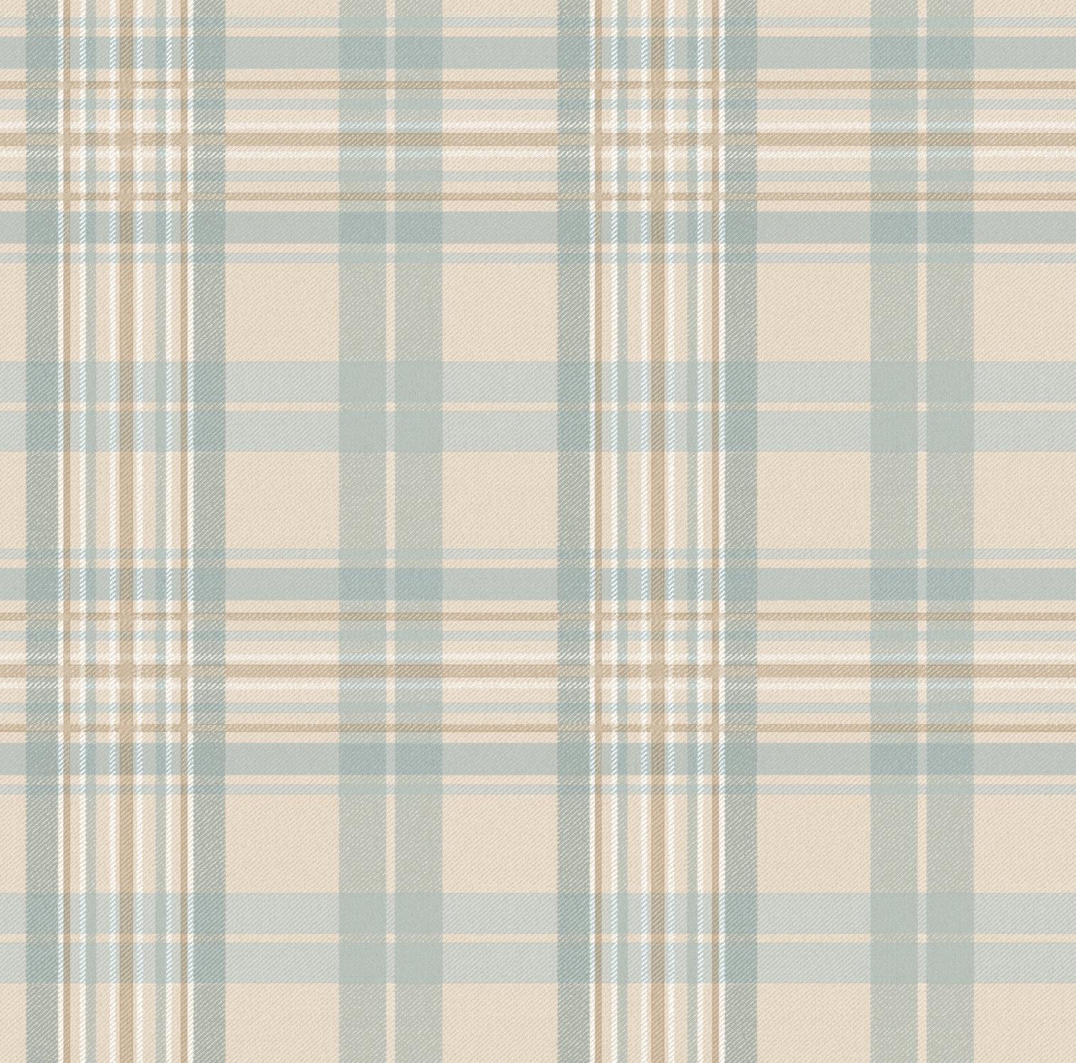 Picture of Austin Light Blue Tartan Wallpaper