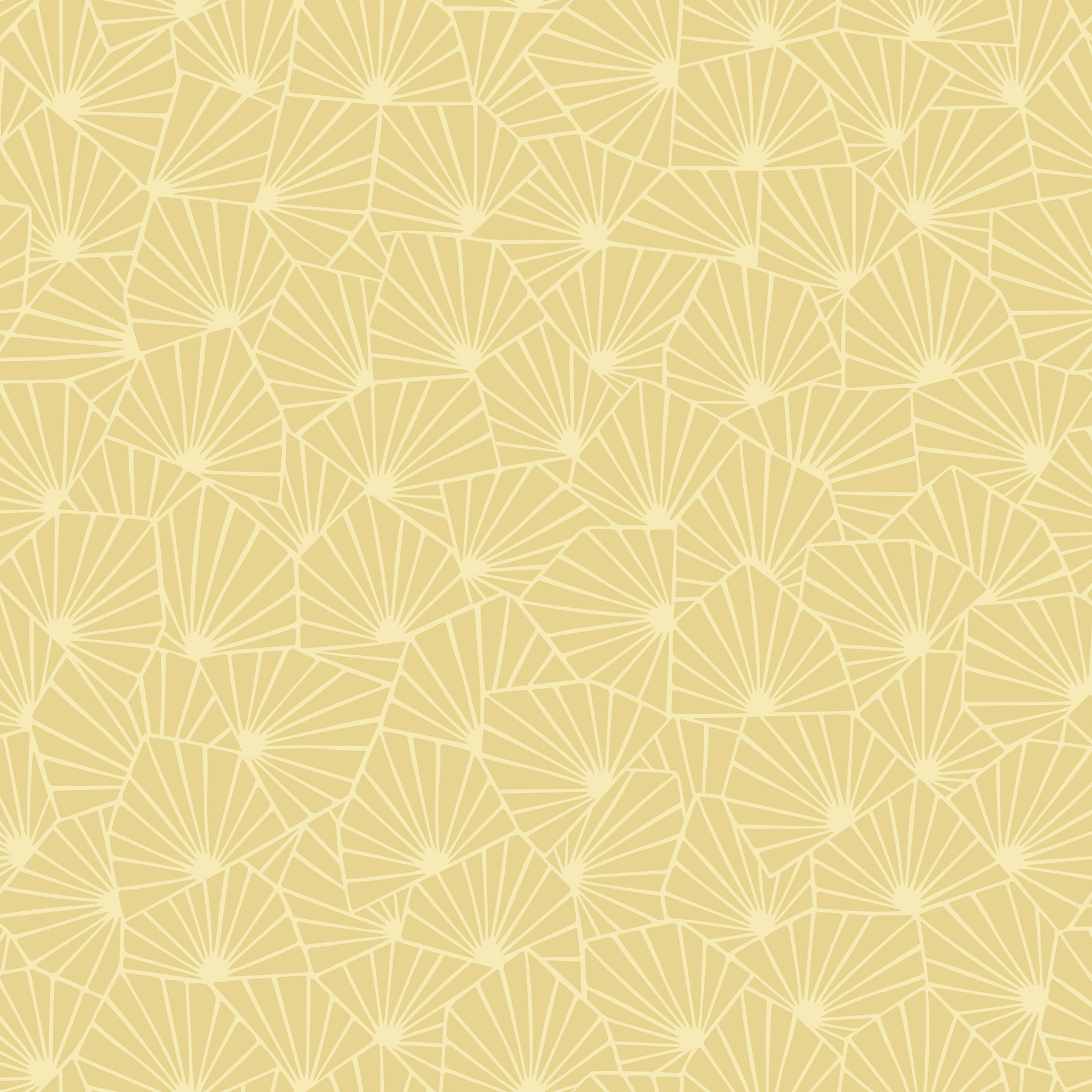 Picture of Blomma Yellow Geometric Wallpaper
