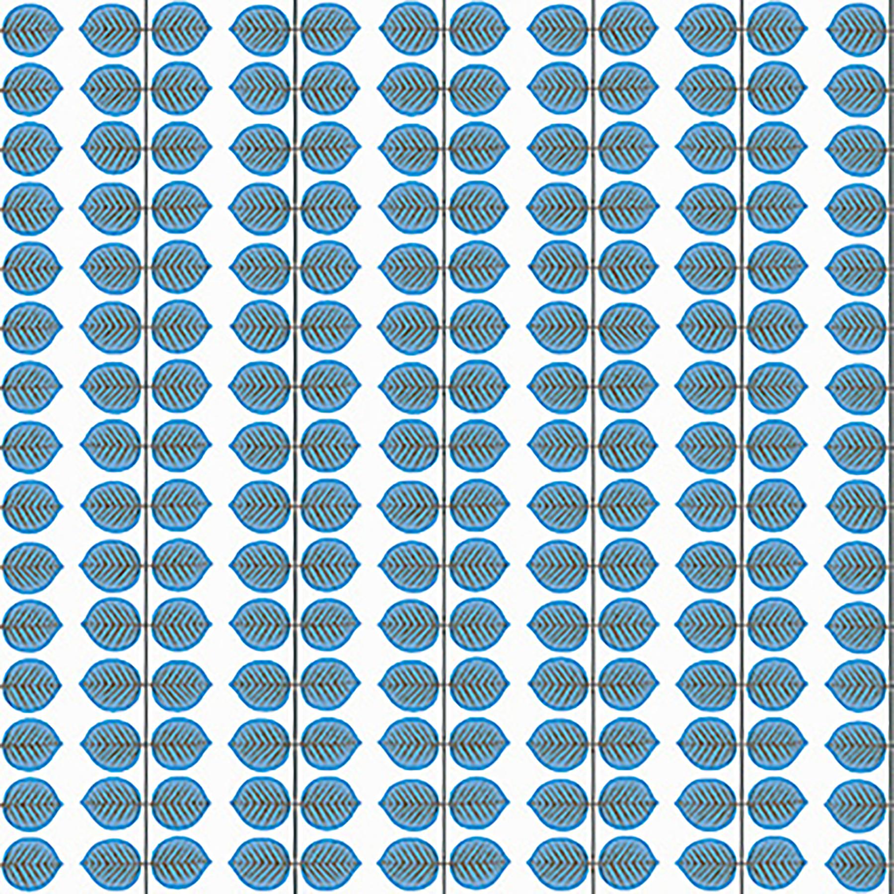 Picture of Berså Blue Leaf Wallpaper
